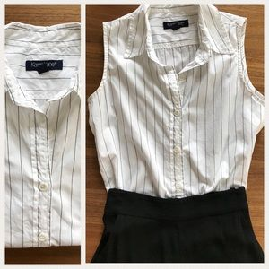 Karen Kane Sleeveless striped button down shirt